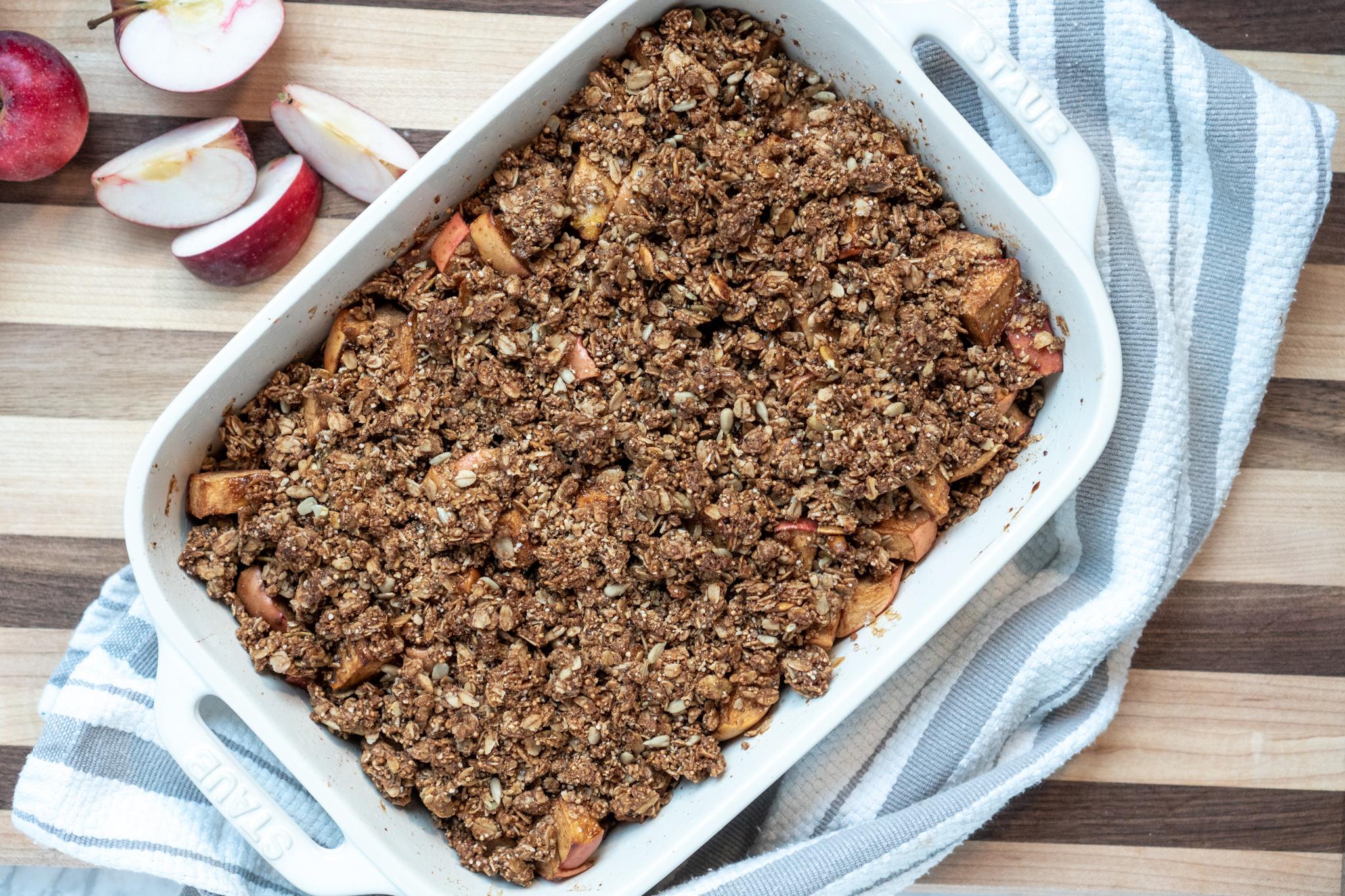 gluten-free vegan apple crips Thanksgiving recipe