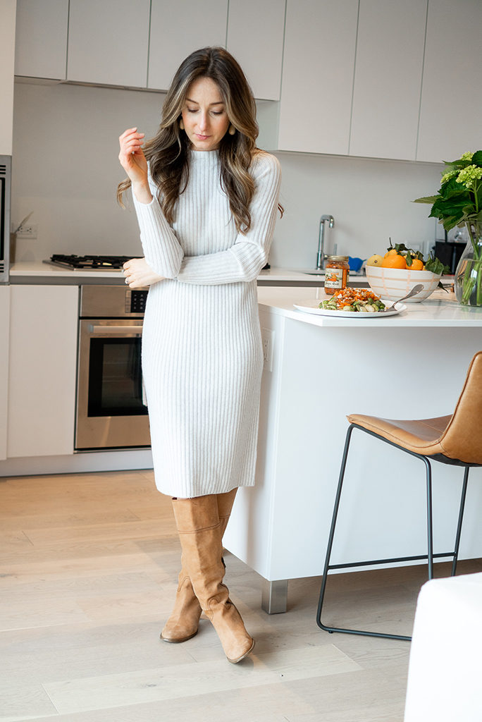 thanksgiving style sweater dress