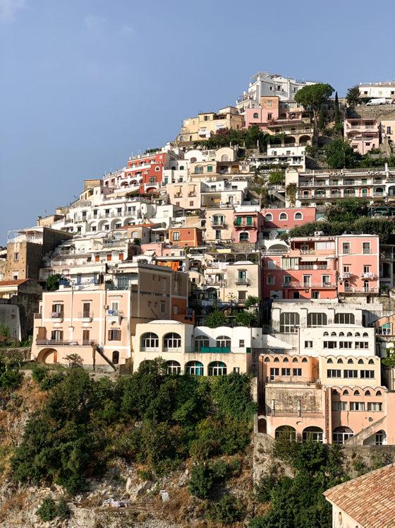 colorful buildings in Positano Italy