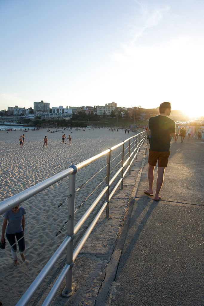 sunset at Bondi Beach