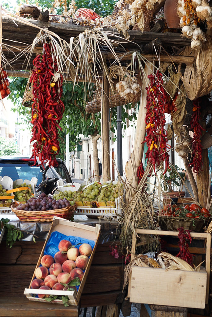 the fruit stand in Ischia, Italy