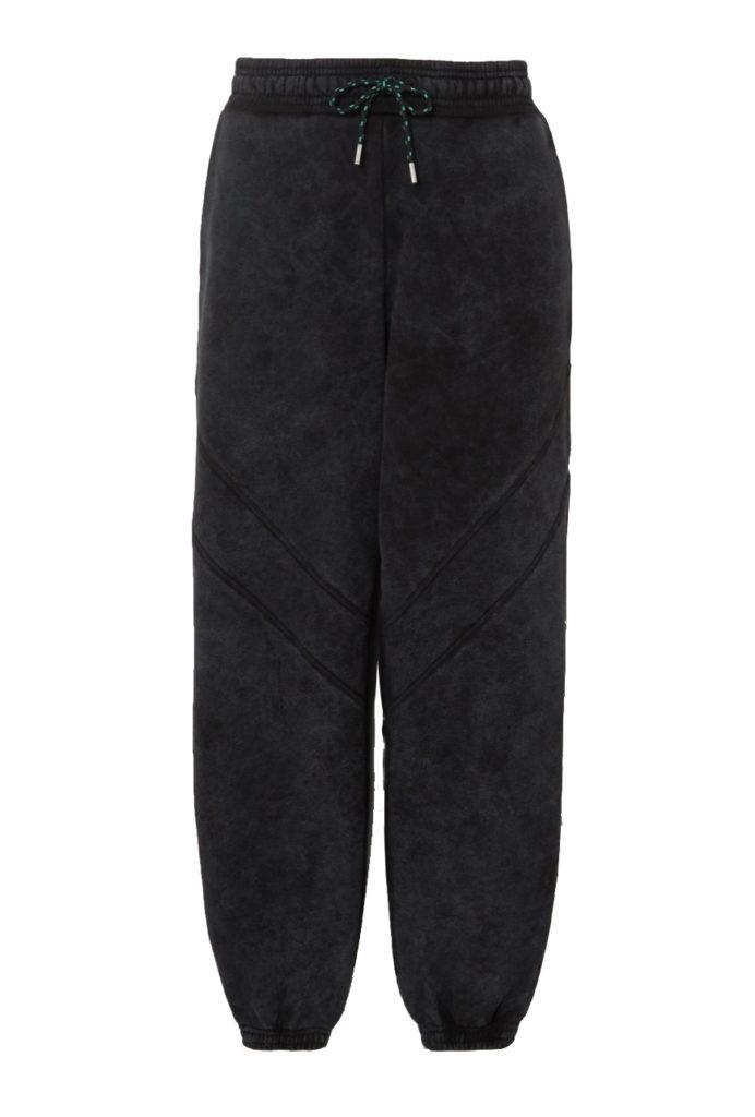 ninety percent net-a-porter black tie dye track pant