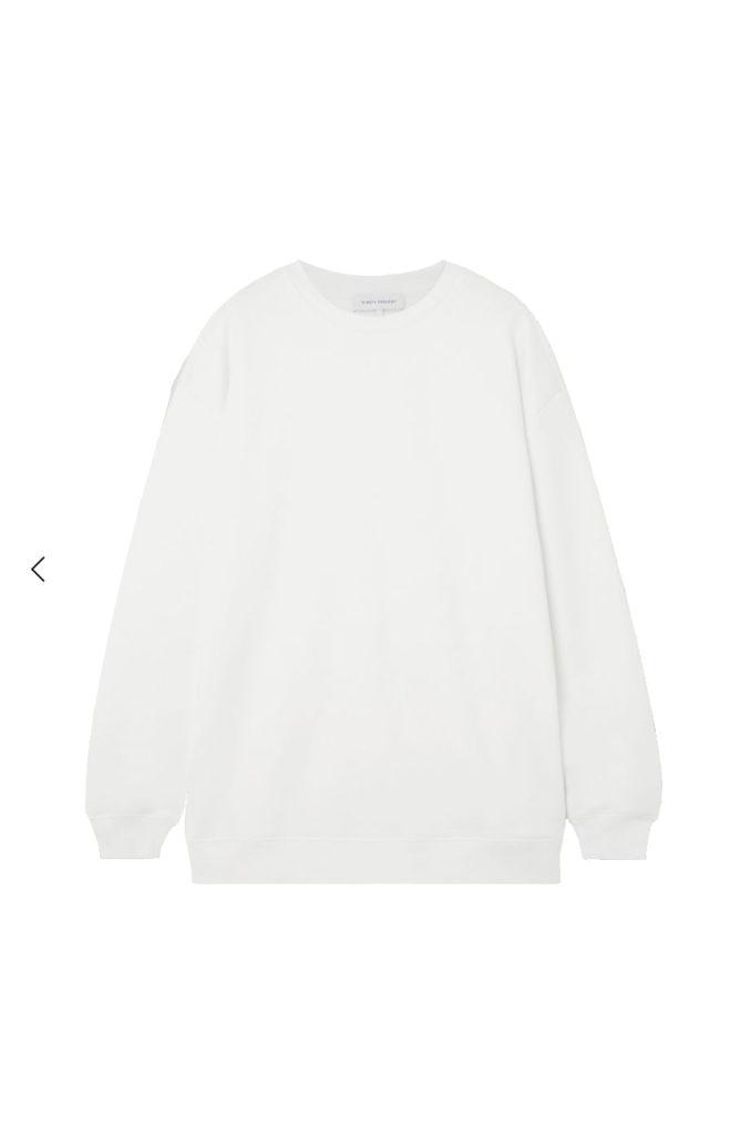 ninety percent Linda oversized sweatshirt white